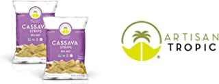 Artisan Tropic Cassava Strips - Your Tasty and Healthy Snack Alternative - Paleo, Gluten Free, Vegan, Non-GMO - Made With Sustainable Palm Oil (Sea Salt, 4.5 oz|2 pack)