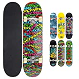"Skateboard Osprey complet débutants double kick trick, 31 x 8"", deck érable"