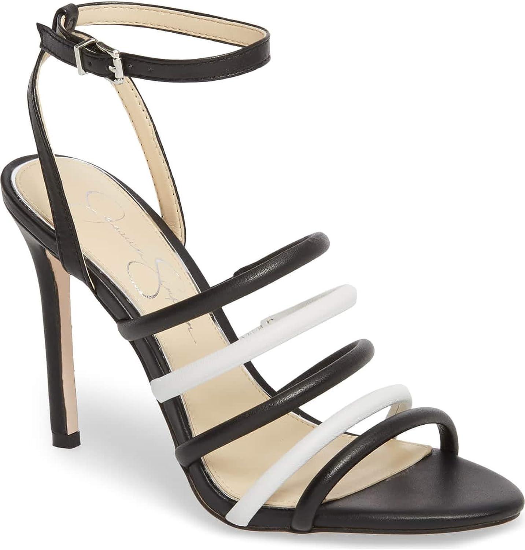 Jessica Simpson kvinnor Joselle Open Toe Special Occuankle, svart, Storlek Storlek Storlek 6.0  butikshantering