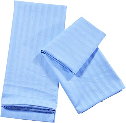 Perfk シンプル ファッション 枕カバー ソフト ピローカバー ピローケース 1ペア 4色3サイズ選択可能  - ブルー, S
