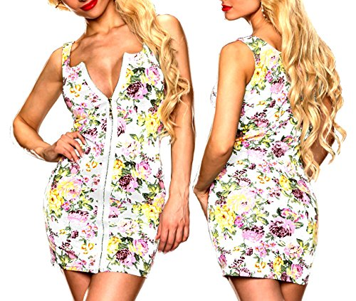 Witte schattige dames mini-jurk bloemen strand jurk White Tuniek Badmode zomer bikini maat L/XL