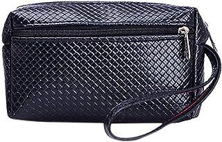 Luxurious Women's Key Bag Faux Leather Purse Wallet,Colour:Black (Color : Black)