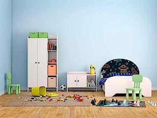 Cabecero Cama PVC Infantil Azul | Varias Medidas 100x60cm | Fácil colocación | Decoración Habitación | Motivos paisajisticos | Naturaleza | Urbes | Multicolor | Diseño Profesional