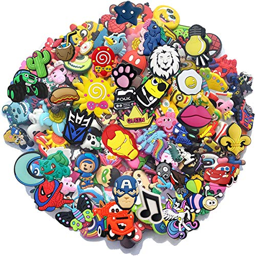 Bokcharms Lot of 25 50 100Pcs Random Shoe Charms for Shoe Decoraiton Bracelet Wristband