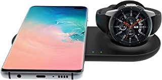 EloBeth Fast Wireless Charger Station for Samsung Duo Galaxy Watch 3 Charger Active 2 1 & Gear S3 S20/S10/S10e/S9/S8 Note ...