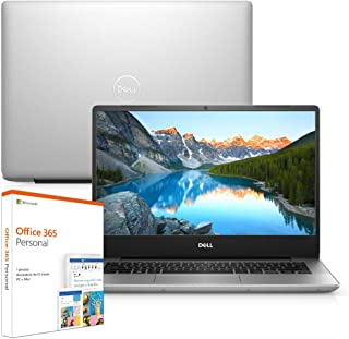 """Notebook Dell Inspiron i14-5480-M20F 8ª Geração Intel Core i7 8GB 1TB Placa de Vídeo FHD 14"""" Windows 10 Prata Office 365 McAfee"""