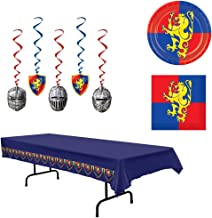 Medieval Knight Castle Plates Napkins Tablecover Dangling Whirls 38 Piece Bundle