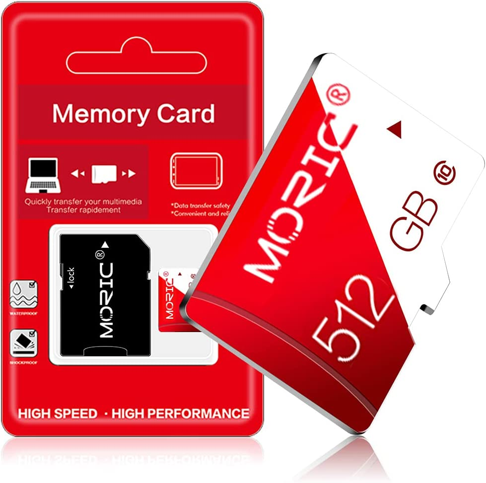 Micro SD Card 512GB Class 10 High Speed Micro SD SDXC Card Memory Card with SD Adapter