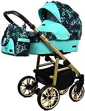 Cochecito de bebe 3 en 1 2 en 1 Trio Isofix silla de paseo Fire Gold by SaintBaby Green Garden 4in1 con Isofix + Silla