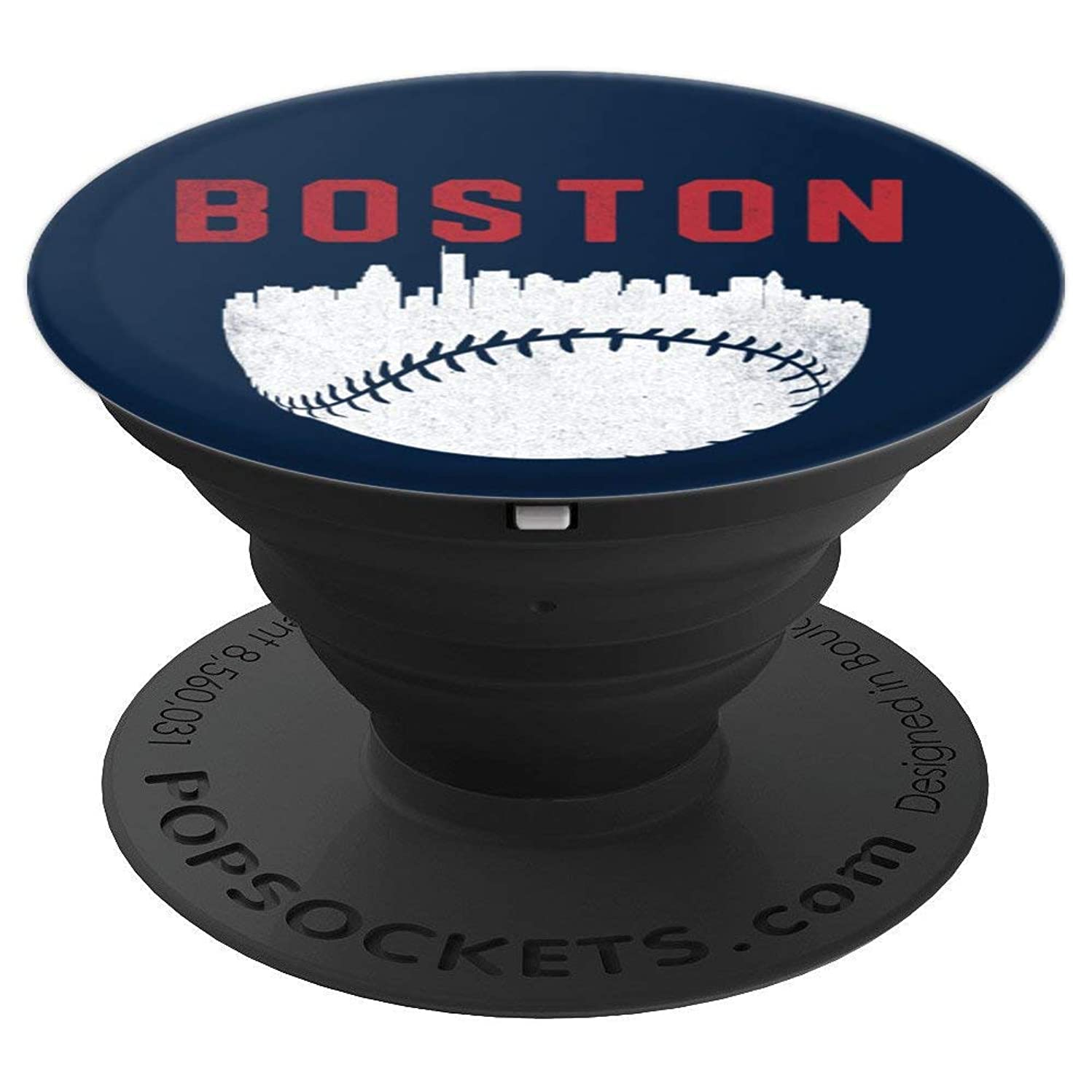 Vintage Boston Massachusetts Cityscape Baseball - PopSockets Grip and Stand for Phones and Tablets