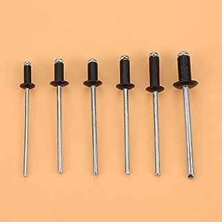 120 stks/set M2.4/M3.0/M3.2/M4 Zwarte Klinknagels POP Klinknagels Assortiment Zwarte POP Klinknagels Blindklinknagels Alum...