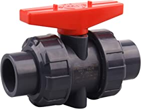 DERNORD PVC True Union Ball Valve with Full Port, EPDM O-Rings, and Reversible PTFE Seats,Rated at 200 PSI (3/4 inch Socket)