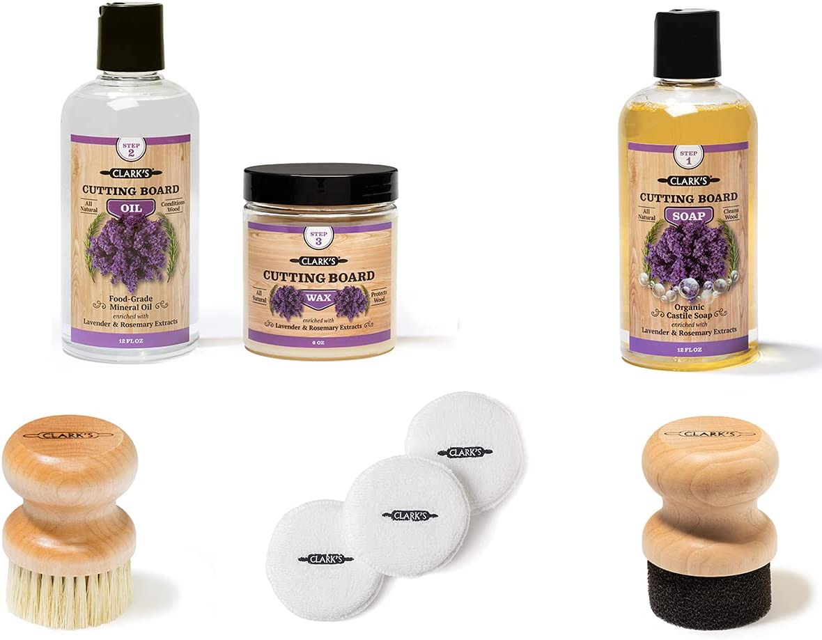 Lavender Cutting 5 ☆ very popular Max 52% OFF Board Soap Oil and Small Wax Br Pads Buffing