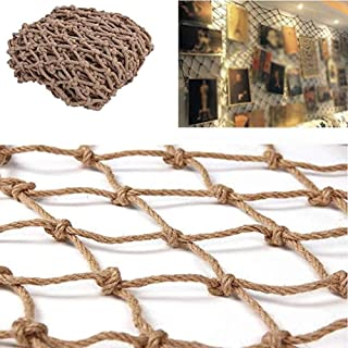 Safety Net Decor Net, Ceiling Decoration Net Outdoor Expansion Climbing Net Anti-aging Collapsible (Color : BEIGE-16MM, Si...