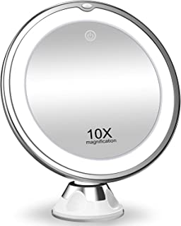 KOOLORBS 2020 New Version 10X Magnifying Makeup Mirror with Lights, 3 Color Lighting,..