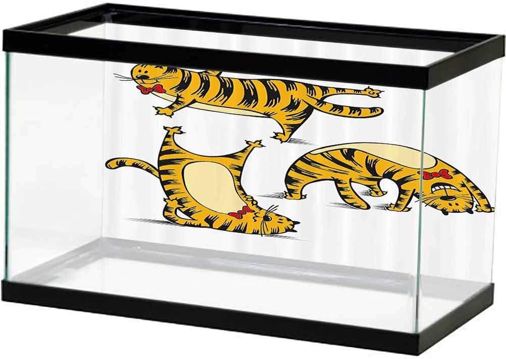 Cartoon PVC Aquarium Background Funny Cute Virginia Beach Mall Fat Dancing Be super welcome Aroun Cat