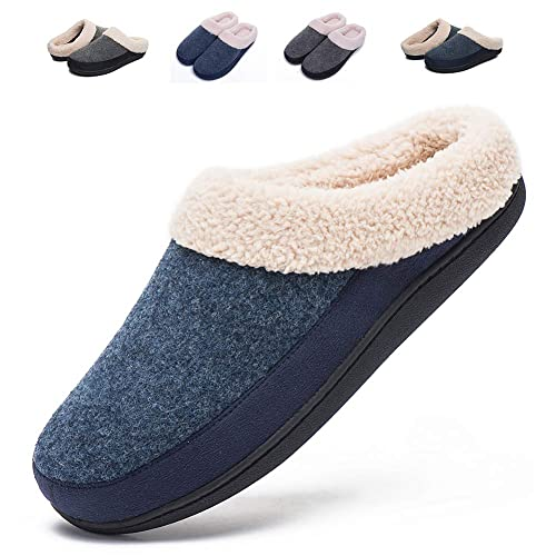 195c8588e Mens Womens House Slippers Indoor Outdoor Memory Foam Warm Comfortable Shoes  for Women Anti-Slip