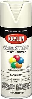 Krylon K05567007 COLORmaxx Spray Paint, Aerosol, Ivory