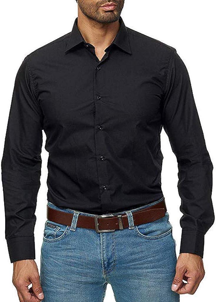 Men's Long Sleeve Button Down Classic Fit Business Dress Shirt