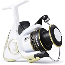 Akataka Spinning Reel, Durable Lightweight Spinning Fishing Reels with Smooth 10+1 Stainless BB, Powerful Carbon Fiber Drag, High-Capacity Aluminum Spool Freshwater Spinning Reel