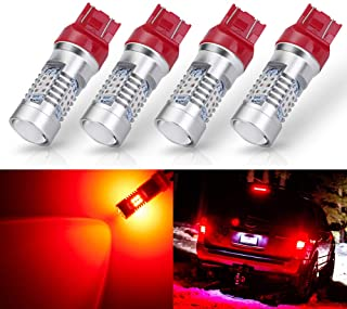 ANTLINE Extremely Bright 7443 7440 T20 7441A 992 W21W 21-SMD 2835 Chipsets 1260 Lumens LED Bulb Replacement Brilliant Red ...