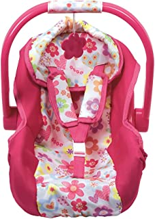 ADORA BABY DOLL CAR SEAT - PINK FLOWER PRINT BABY DOLL CARRIER & ACCESSORY FOR KIDS 3 YEARS +