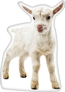 Ella Sussman Goat Kid Shaped Throw Pillow Decorative Farmhouse Decor Cushion