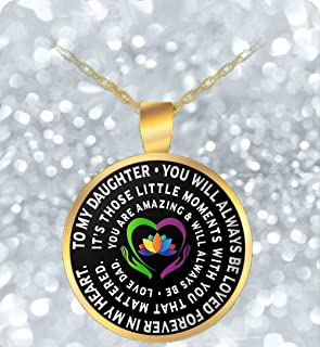 Father Daughter Jewelry - Gold Chain Necklace - Gift From Dad - Inspirational - Personalized
