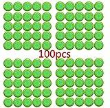 Justfund 100 Pack Green Dart Refills Disc Bullets for...