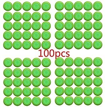 Justfund 100 Pack Green Dart Refills Disc Bullets for Nerf Vortex Blaster Praxis Nitron Vigilon Proton Ammo Discs Refill  100pcs