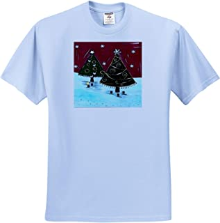 Owl ts/_309601 Vector Little Brown Owl Na/ïve Art 3dRose Taiche Adult T-Shirt XL