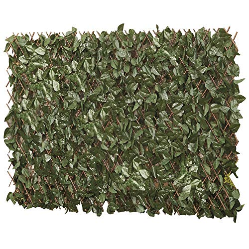 Artificial Ivy Hedge Trellis 1 x 2m Expandable Privacy Screening Panel for Gardens, Balcony and Terraces