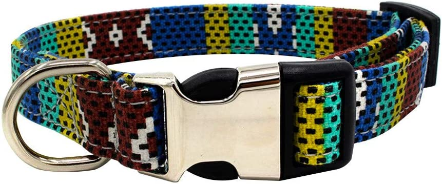 Nylon Dog Collar Max 71% OFF depot Adjustable Classic D for Ring with S