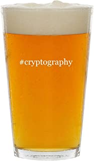 #cryptography - Glass Hashtag 16oz Beer Pint