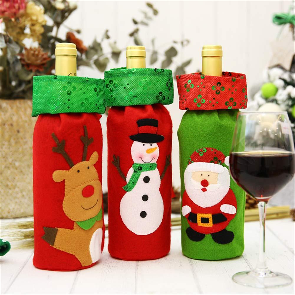 Bolsa de regalo para botella de Navidad, con lentejuelas bordadas ...