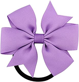 Fashion 1Pc Ribbon Bow Elastic Hair Bands 20 Colors Cute Rope Accessories Gift