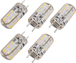 New Lon0167 5Pcs GY6.35 Featured DC 12V 24 reliable efficacy LEDs 3014SMD LED Silicone Corn Light Bulb Warm White(id:b8e a...