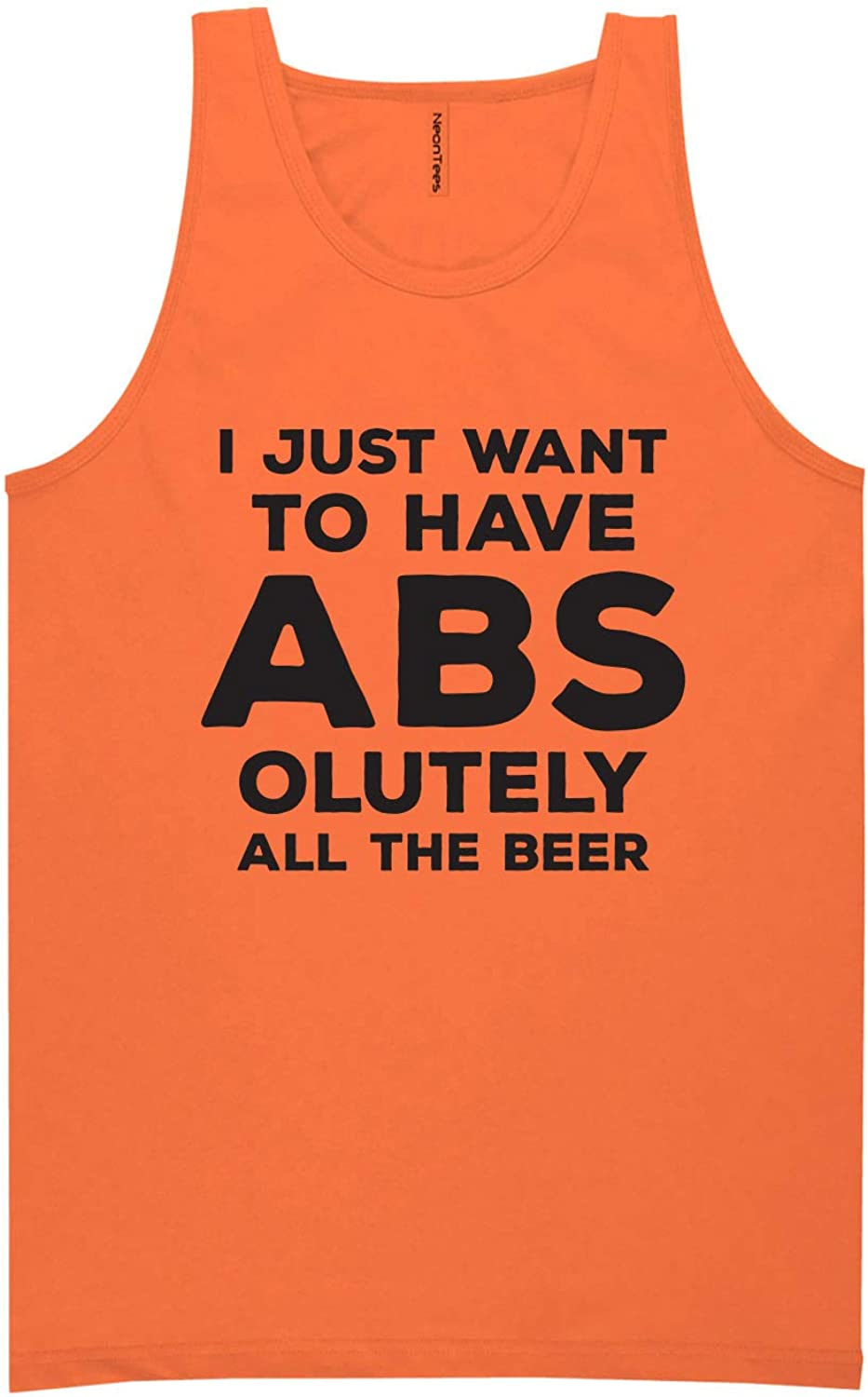 I Just Want ABS-olutely. Beer Neon Tank Top