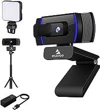 AutoFocus 1080P Webcam Kits, NexiGo FHD USB Web Camera with Privacy Cover, Extendable Tripod Stand, Video Conference Light...