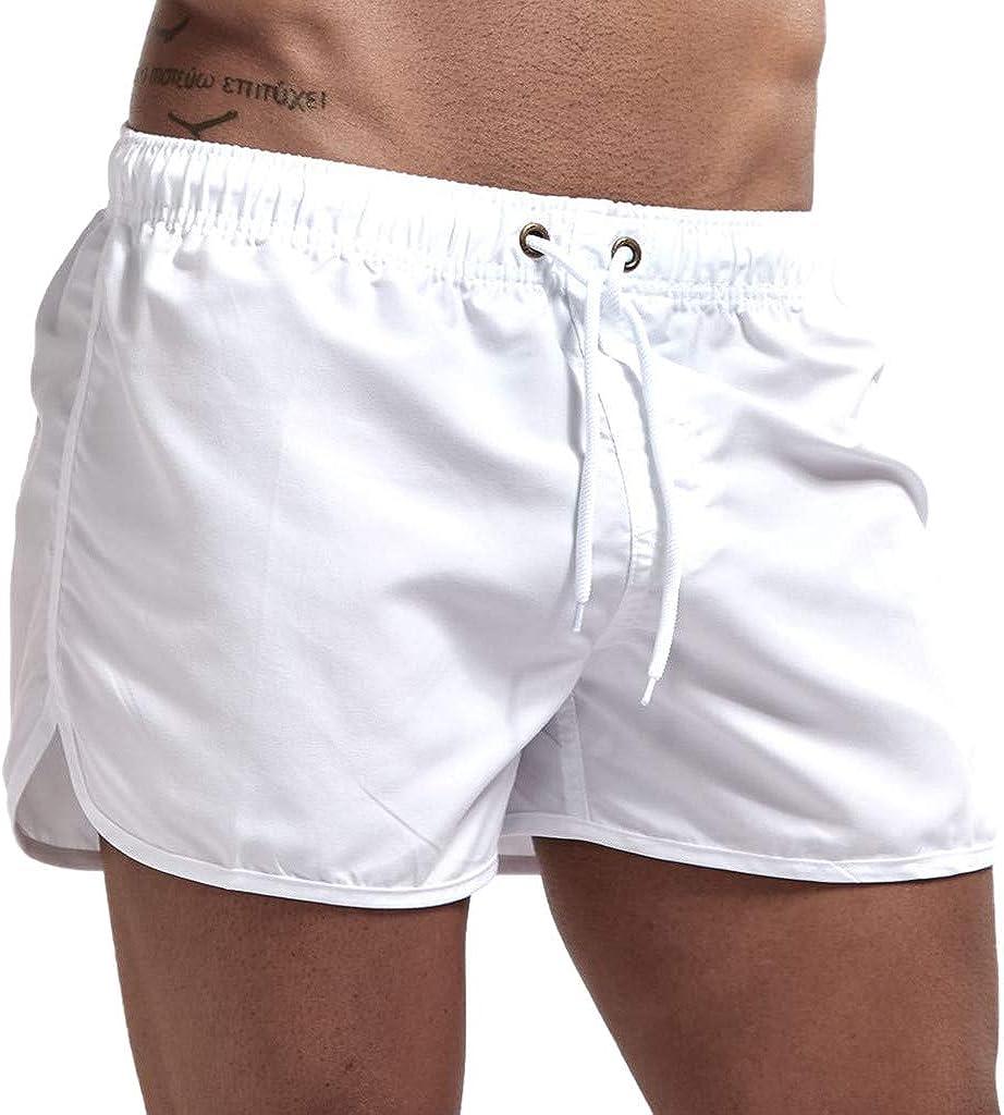 LEKODE Men Beach Pants Fitness Loose Surfing Trunks Shorts