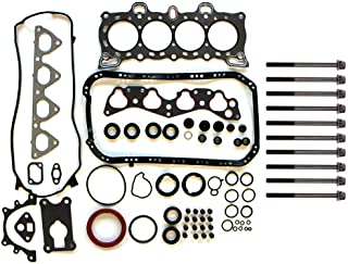 ECCPP Engine Head Gasket Set w/Bolts fit 88-95 Honda Civic del Sol S SOHC Honda Civic wagovan SOHC Honda CRX DX BASE SOHC Honda CRX HF SOHC Honda CRX Si SOHC Compatible fit for Gaskets Kit