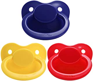 LittleForBig 3-Pacifier Pack BigShield Gen-1 DarkBlue Red Yellow