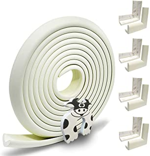 Hoobii | Edge Guard & Corner Protector - Extra Long 19.0ft [16.5ft Edge + 8 Pretaped Corners] with Baby Proofing, Home Saf...