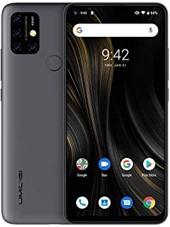 UMIDIGI Power 3, 4GB+64GB Quad Back Cameras, 6150mAh Battery, Face ID & Fingerprint ID 6.53 inch Full-Screen Android 10 Helio P60 Octa Core up to 2.0GHz, 4G, OTG, NFC (Grey)