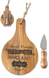 Jozie B 246625 Sweet Dreams are Made Cheese Serving Board and Knife Set