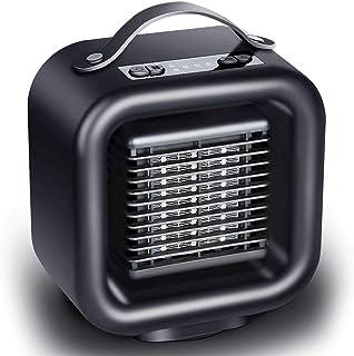 ANKIKI PTC Cerámica Mini Calefactor, Multifunción Frío Cálido Doble Uso Portátil Ventilador Calefactor,Ahorro Energía, Ajustable 3 Termostato, Sala Estar Dormitorio Oficina Mesa Uso