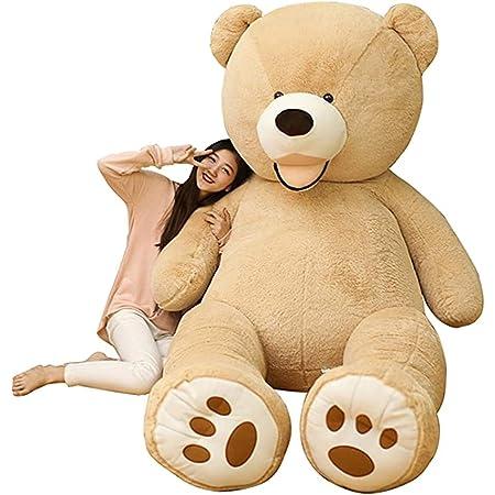 HYAKURIぬいぐるみ  くま クマ 熊 テディベア 抱き枕 クッション 特大 かわいい オシャレ お祝い (ブラウン, 100)