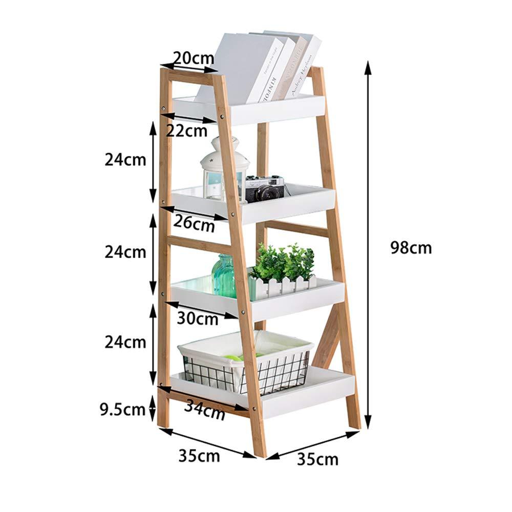 Librerías HUO Escalera de la Sala de Estar de bambú Estantería de Estudiantes Escaleras de Piso de Madera sólida nórdica (Tamaño : 98 * 35 * 35cm): Amazon.es: Hogar