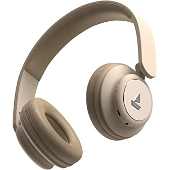 boAt Rockerz 450 Wireless Bluetooth Headphone with Up to 8H Playback, Adaptive Lightweight Design, Immersive Audio, Easy Access Controls and Dual Mode Compatibility (Hazel Beige)
