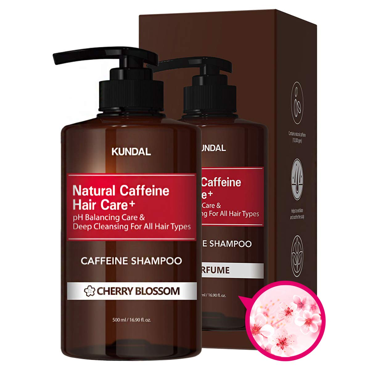 KUNDAL CAFFEINE Outlet sale gift feature ANTI-HAIR LOSS SHAMPOO Scalp Care Deep Cleansing